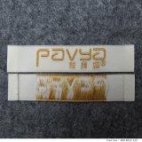 La vendita calda ha reso personale il contrassegno tessuto abito dell'oro