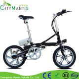 16 '' mini Pocket Ebike 250W faltbare Stadt-elektrisches Fahrrad