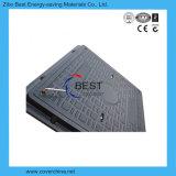En124 de Standaard Vierkante Dekking van het Mangat van het Handvat van het Riool SMC van 600X600mm
