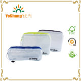 3 Satz Organizer Storage Packing Beutel-Clear Water Resistant Solid Reinforced PVC Mesh Plastic mit Zipper Closure