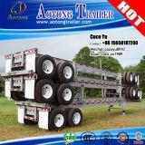 탄자니아를 위한 세 배 축선 40ft 평상형 트레일러 콘테이너 차량 세미트레일러