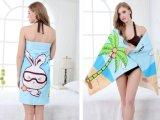 Modieuze Handdoek 70*100cm van het Strand van de Vezel Groene