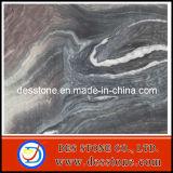 Azulejo de mármol Polished de la losa de Brown de la alta calidad (DES-MT011)
