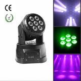 Heißes Mini-LED bewegliches Hauptlicht des Verkaufs-7PCS*10W RGBW