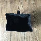Saco encerado alta qualidade personalizado do almoço da lona com guarnição de couro