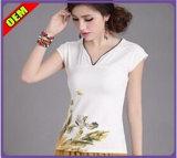 De Afgedrukte T-shirt van de manier Nice voor Vrouwen (W209)