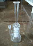 Tuyau d'eau en verre clair
