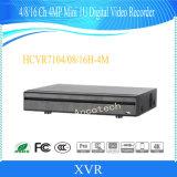 Dahua 4チャネル4MP小型1uデジタルのビデオレコーダー(HCVR7104H-4M)