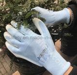 Зеленая перчатка безопасности с окунать PU (PN8004)