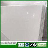 Чисто белый белый сляб камня кварца для верхних частей обедая таблицы