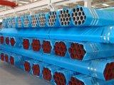 Tubo de Aço Weled pintados a vermelho com capas de cada extremidade para o combate ao fogo