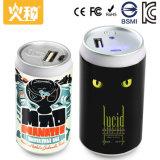 Batería móvil de la potencia del USB del kc con la linterna brillante