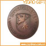 Kundenspezifische antike doppelte Seiten-Metallmessingmünze für Andenken (YB-c-010)