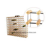 121 Botellas Wine Rack Kits Bodega de madera de estilo europeo