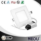 BIS Saso 6W Square 100X100mm LED Panel Light