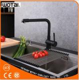 Taraud noir à levier unique de finition noir de robinet de bassin de cuisine
