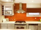 Vidrio Tempered decorativo de /Serigraphic del chapoteo para la pared del fondo de la cocina