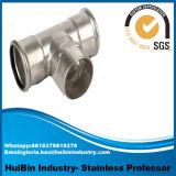 Gomito protetto contro le esplosioni dell'accessorio per tubi del T dell'uguale del filetto della pressa della giuntura di tubo dell'acciaio inossidabile