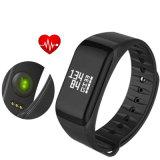 Франтовские калории памятки шагомер отслежывателя пригодности браслета давления кислорода крови монитора тарифа сердца полосы F1 для Android Ios