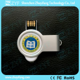 Metal Round Rotate USB Flash Drive com luz LED (ZYF1753)