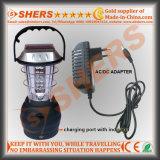 Un indicatore luminoso solare dei 36 LED per il campeggio con la dinamo che a gomito la presa del USB (SH-1990A)