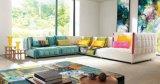 Sofà domestico del tessuto di L-Figura della mobilia del giardino