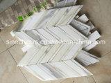 Azulejo de mármol blanco al por mayor de Calacatta para la decoración del cuarto de baño