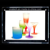 Cadre léger en cristal de publicité acrylique de medias des ventes chaudes DEL