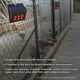 太陽動力を与えられたLEDの捕食動物の妨げる軽い動物のRepellerセンサーランプ