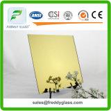 miroir moderne en aluminium teinté jaune d'or de 1.5mm-6mm