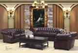 Верхняя продавая софа Chesterfield кожаный (CB318)