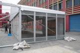 Grande tente d'exposition avec le mur en verre et le mur d'acier de sandwich