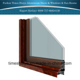 Guichet de glissement en aluminium avec différents panneaux