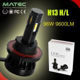 차를 위한 96W 9600lm 4 측 자동 LED 헤드라이트 9005 Hb3