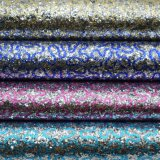Do couro artificial Shining do saco do plutônio do Glitter tela de couro decorativa