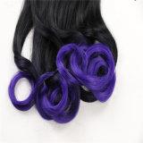 巻き毛のポニーテールの毛の拡張のまわりの100%の合成物質の毛の高品質の覆い