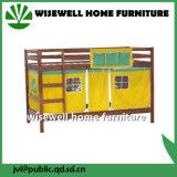 固体マツスライドが付いている中間の眠る人の二段ベッド