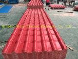 Alta cadena de producción acanalada esmaltada PVC de la azotea de la eficacia del producto