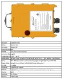 Langer drahtloser Steuerknüppel-Controller des Steuerabstands-F24-60 für Exkavator