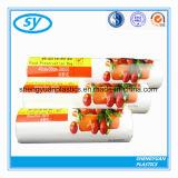 Zoll gedruckte freier HDPE Supermarkt-Plastiknahrungsmittelbeutel auf Rolle