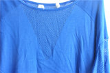 Camisola feminina de manga comprida com mola redonda com pulôver