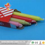 Il colore esamina in controluce le candele dell'aroma della fabbrica