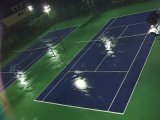 배드민턴, 농구, 테니스 코트에 이용된 마루가 고품질 옥외 PVC에 의하여