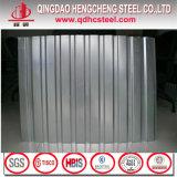 Telhado de metal de folha de aço corrugado galvanizado Galvalume