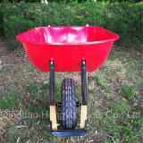 금속 쟁반 목제 손잡이 외바퀴 손수레