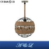 Vintage corde cordon pendentif artistique lampe pour salle de séjour