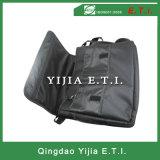 Черный мешок посыльного цвета с Zippered наружным карманн
