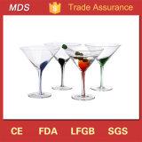 Handmade ornement populaire clair verre à martini à la verrerie