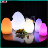 Candeeiro de mesa com ovo candeeiro de mesa recarregável Lâmpada Decoração de mudança de cor