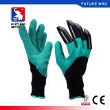 2017 neue Garten-Handschuhe mit den Fingerspitzen geschützt mit Greifern für das Graben und das Pflanzen wasserdicht